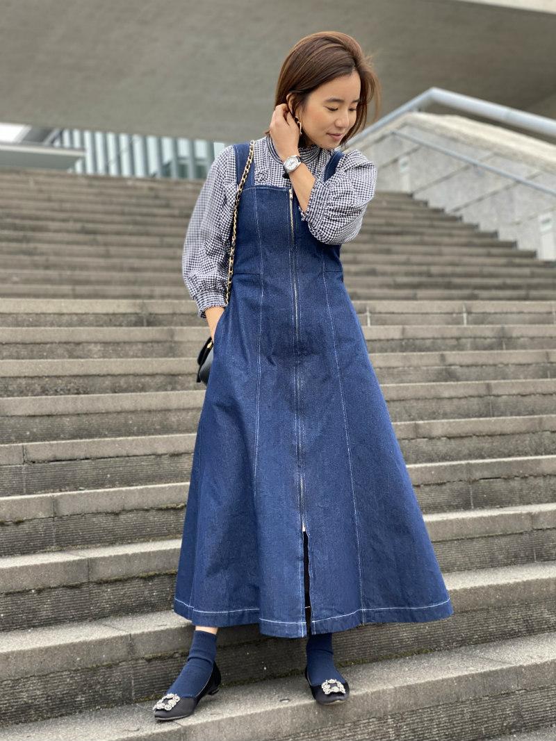 ST.ROONEY /小柄女性をスタイルアップ デニムジャンパースカート