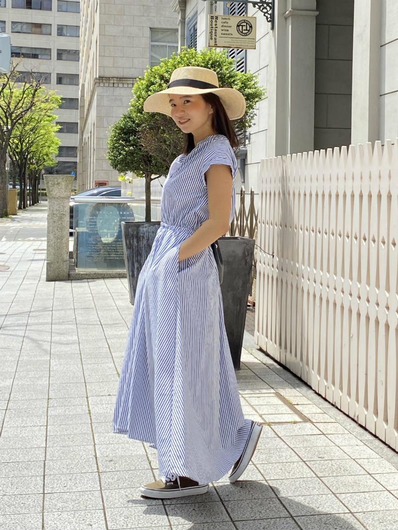 ST.ROONEY /小柄エレガンス ストライプシャツワンピース【完売】