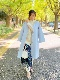 ST.ROONEY /@ma_anmiコラボ3rd 小柄女性のためのコート ベルテッドドレープコート