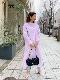 ST.ROONEY/小柄カジュアル スタンドカラーシャツワンピース【ピンクご予約受付中】