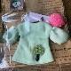 NEW PATTERN「バルーン袖のきのこワンピース」グリーン