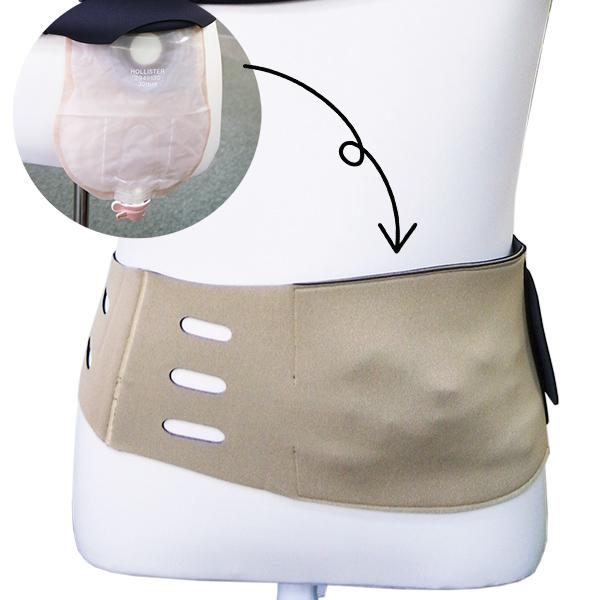 人工肛門(ストーマ)使用者用ベルト式カバー
