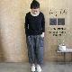 【サイズ「2」】  「Gling Glo(グリン・グロー)」 リネンデニム サルエルパンツ [Linen denim saruel pants, size 2]