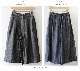 【サイズ「2」】  「Gling Glo(グリン・グロー)」 リネンデニム ガウチョパンツ [Linen denim Gaucho pants, size 2]
