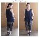 【サイズ「1」】  「Gling Glo(グリン・グロー)」 ベルギーリネン布帛 サルエルパンツ [Belgian linen fabric saruel pants, size 1]