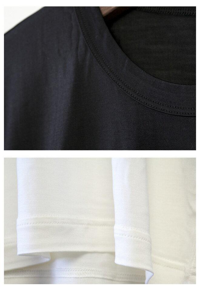 「COCOONA SKINWEAR<br>(コクーナ スキンウェア)」<br> ハイゲージ シルク100%<br>ジャージ素材 ボーイズTシャツ<br>(クルーネックT)
