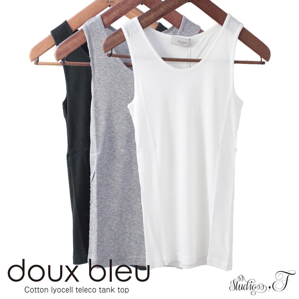 doux bleu (ドゥーブルー) シャンカーリヨセルテレコ  タンクトップ