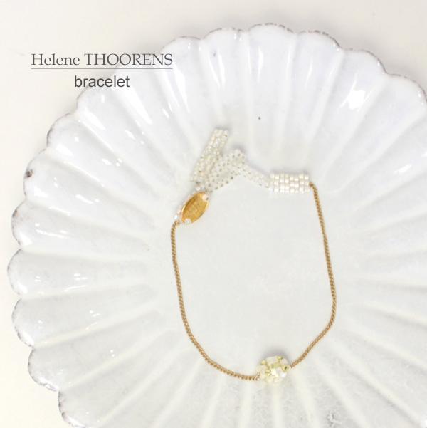 【Helene THOORENS】エレーヌ トーレンス<br>クリスタル ソニアブレスレット