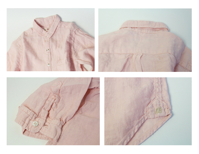 Brocante(ブロカント ブロカンテ) リネン100% 七分袖ユニヴェルセルシャツ 36-024L [Three-quarter sleeve Univel cell shirt]