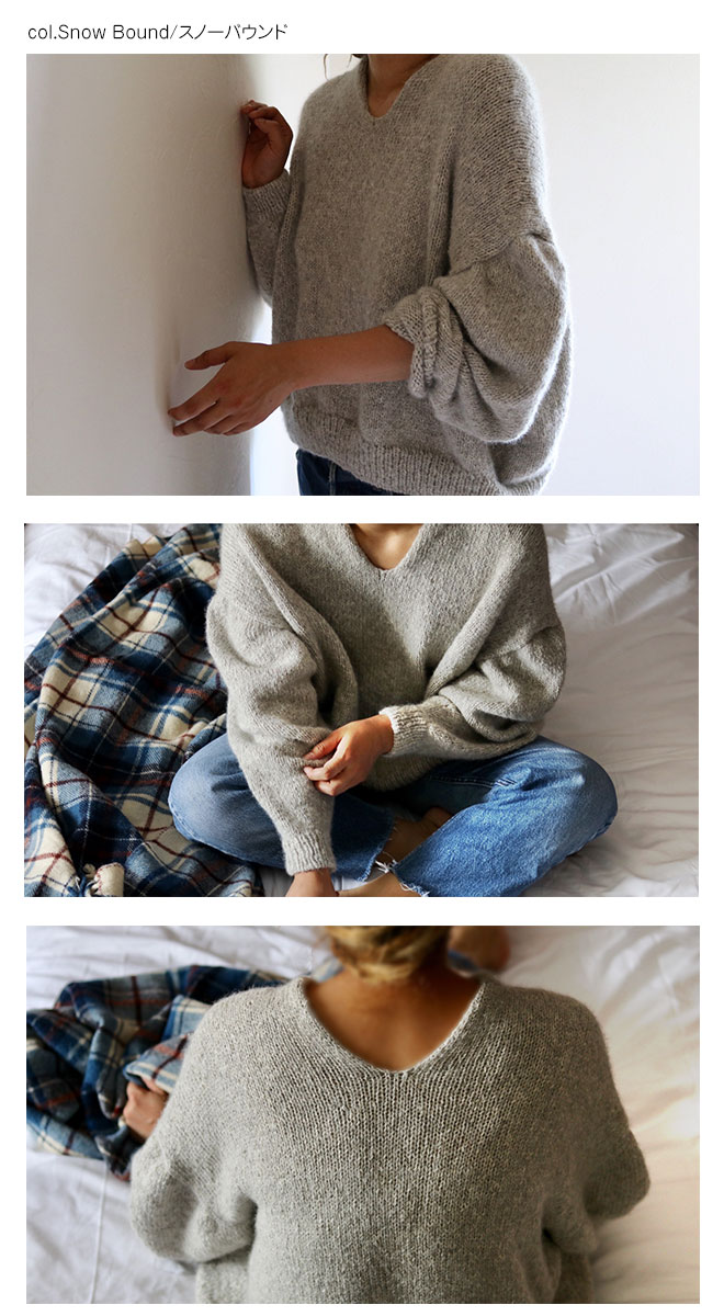 ベビーアルパカ100% リリヤーン ペルー手芸糸◆糸のみ◆【サイズ「L/XL」】 Junko Okamotoデザイン『Linus(ライナス)』 ペルー糸「eco baby alpaca」使用