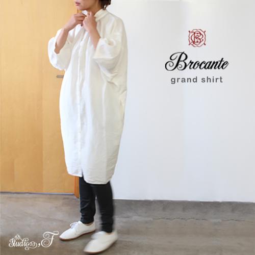 Brocante(ブロカント ブロカンテ) D.M.G ドミンゴ DMG グランシャツワンピース 37-112X [Gran shirt one-piece dress]