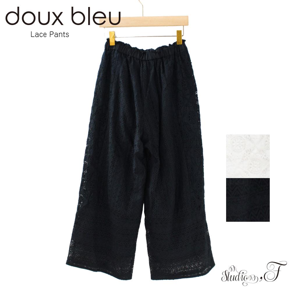 doux bleu(ドゥーブルー) 切り替えレースパンツ
