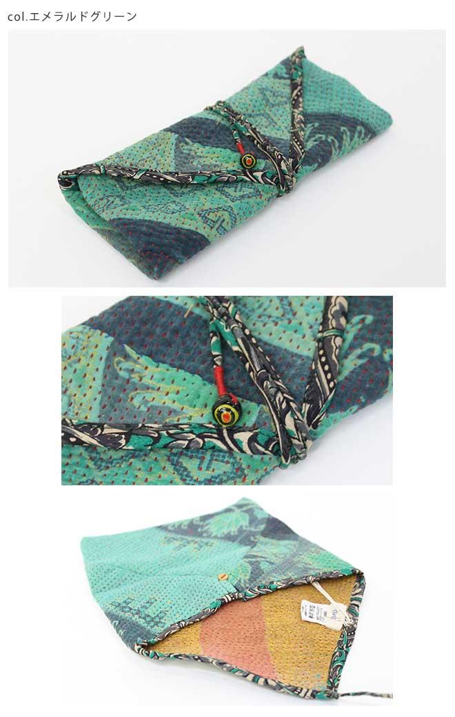 yantra bunai カンタ刺繍 小物入れケース [Kangta embroidered pencil case]