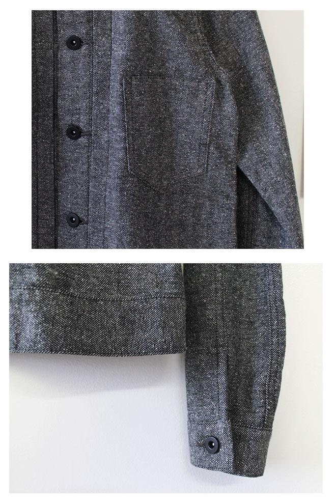【MORE SALE☆20%OFF】 Brocante(ブロカント ブロカンテ) D.M.G (DMG・ドミンゴ) ヘリンボーン ドゥジェームジャケット 38-074S [Herringbone Deuxieme Jacket]