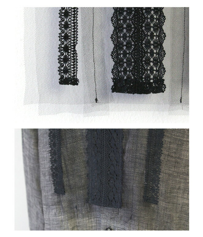 Vlas Blomme(ヴラスブラム) チュールレース 衿(付け衿)
