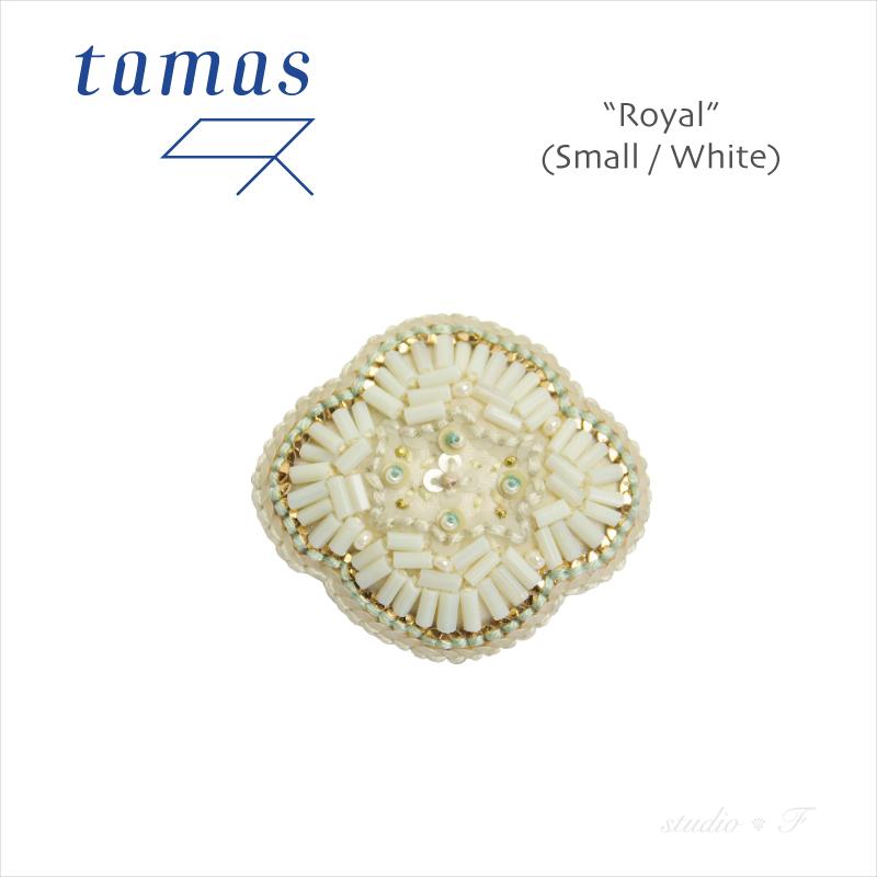 tamas Accessories<br>(タマス アクセサリー)<br>ヴィンテージスパンコール+ビーズ ブローチ<br>「Royal(Small)」