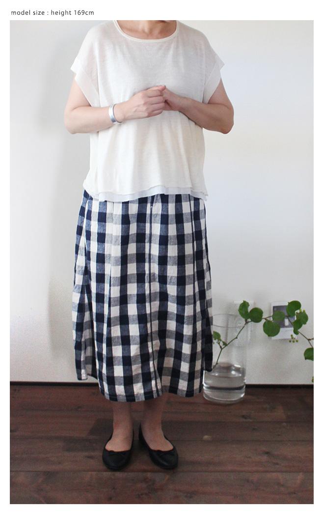 Brocante(ブロカント ブロカンテ) イージータックスカート [Easy tuck skirt]