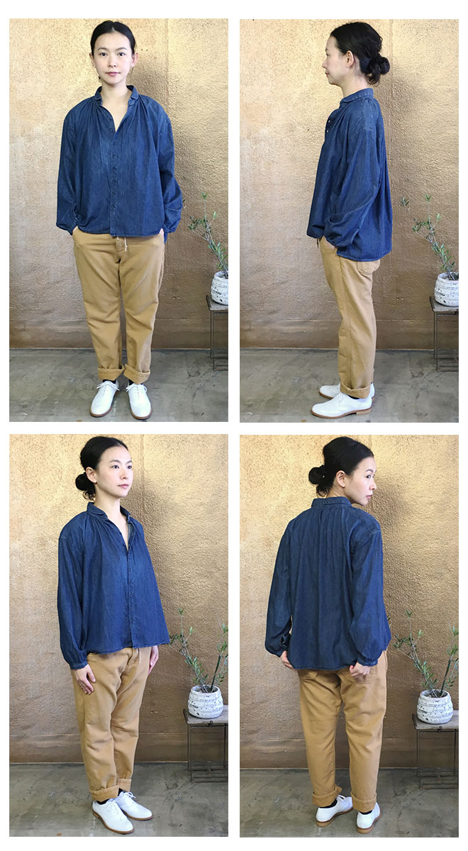 Brocante(ブロカント ブロカンテ) D.M.G(DMG・ドミンゴ) ライトウェイトデニム アルチザンヌ シャツ 36-100X [Light ounce denim Artisane Shirt]