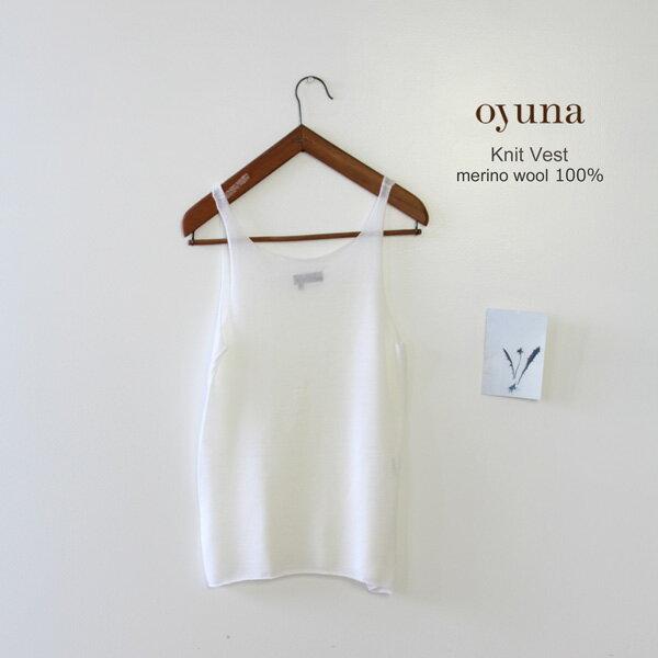 Oyuna(オユーナ) メリノウールニットタンクトップ