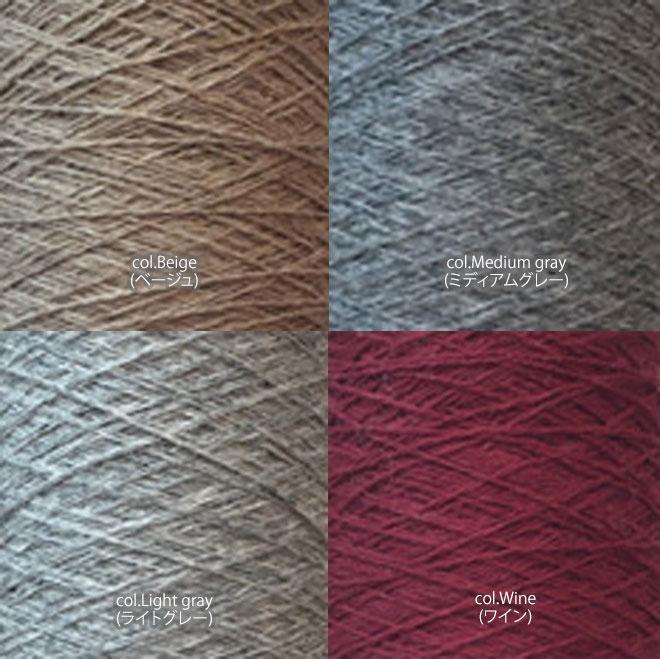 ミンク×レーヨン×ナイロン手芸糸 『Douce(ドゥース)アラン模様 ビッグサイズポンポン付きニットキャップ』編み図と糸のキット