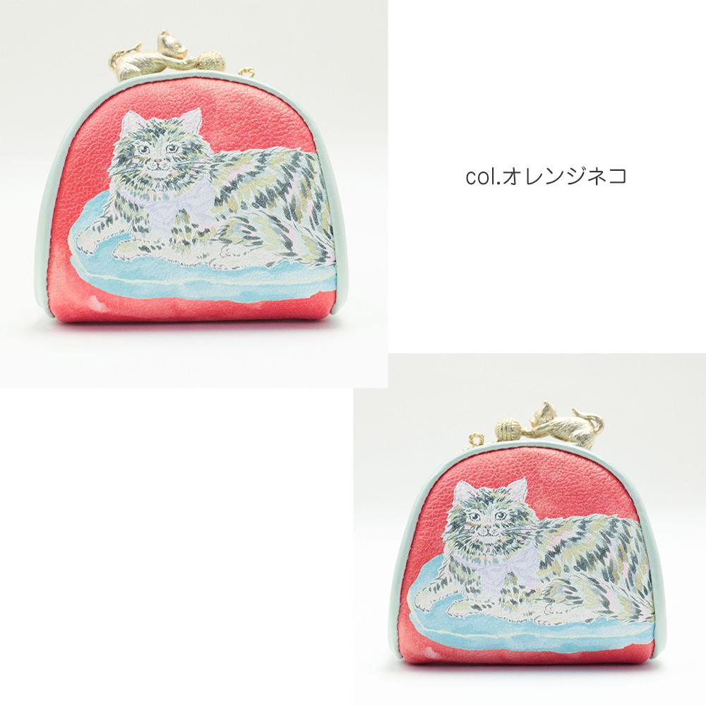 SAKURAYAMA  ドローイング コインケース (イチノネコ/オレンジネコ)