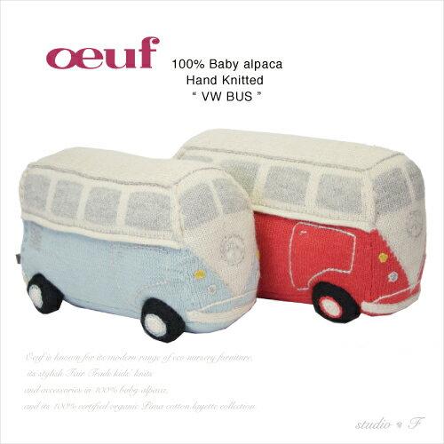 【Oeuf(ウフ)】oeuf be good NYC<br>バスモチーフ ぬいぐるみ<br>フォルクスワーゲン ピロー「VW BUS」