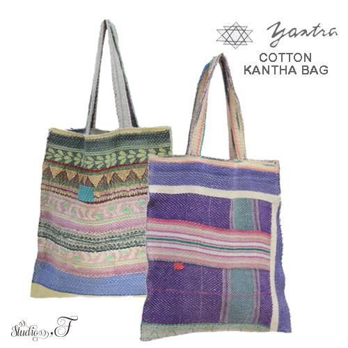 yantra bunai カンタ刺繍 TOTO BAG(トートバッグ) [COTTON KANTHA BAG]