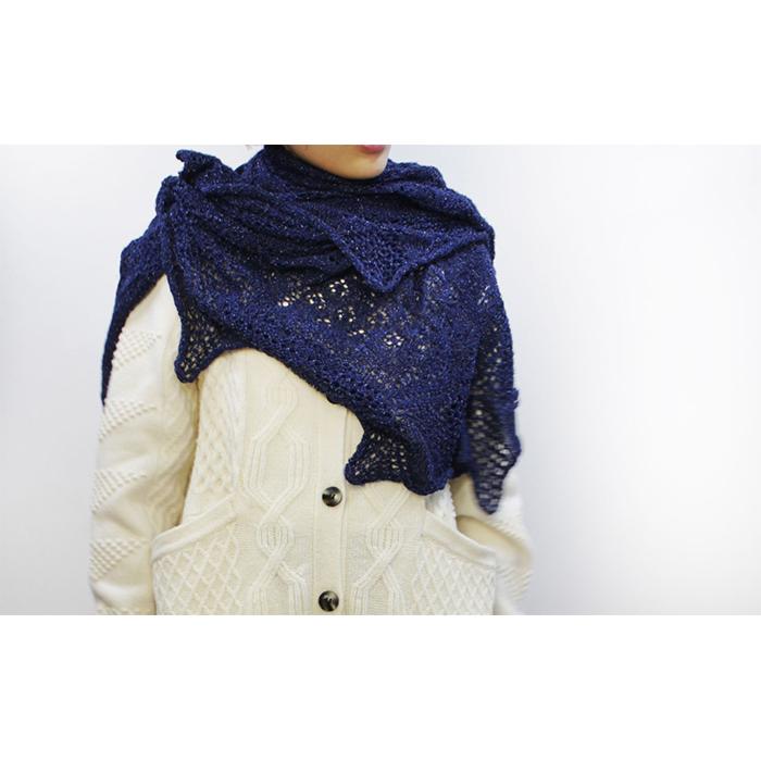 ◆糸と編み図のセット◆「Pureness」x「BELLANCA」 itosakuさんデザイン 円形ショール『Niraikanai(ニライカナイ)』KIT