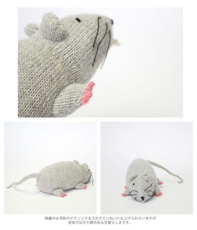 【Oeuf(ウフ)】oeuf be good NYC<br>ベビーアルパカ ネズミモチーフ ぬいぐるみ<br>「RAT PILLOW」