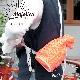 """◆糸と編み図のセット◆ポリエステル100% ネオンカラーの手芸糸『Majolica(マジョルカ)使用 """"Sporty!!!バッグ』編み図と糸のキット"""