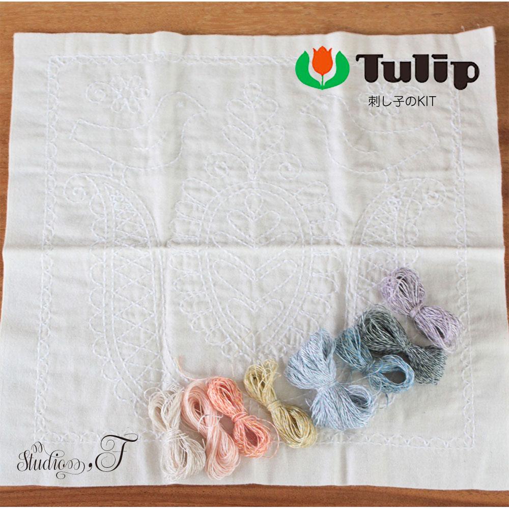 Tulip(チューリップ) 花ふきん 刺し子