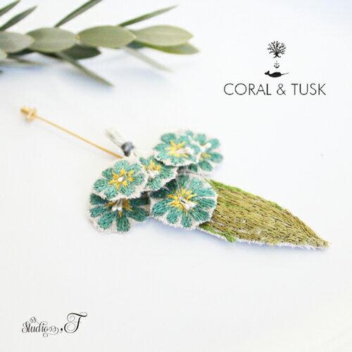 CORAL&TUSK(コーラル・アンド・タスク) フラワーモチーフ 刺繍ピン