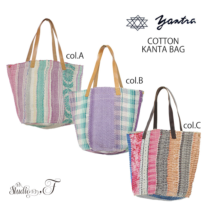 yantra bunai<br> カンタ刺繍 TOTO BAG(トートバッグ)<br> [Kangta embroidered TOTO BAG]