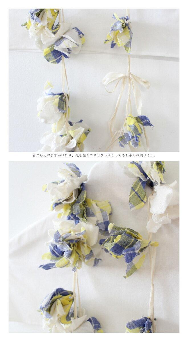 CERASUS(ケラスス)×アトリエ染花<br>マドラスチェック レイネックレス