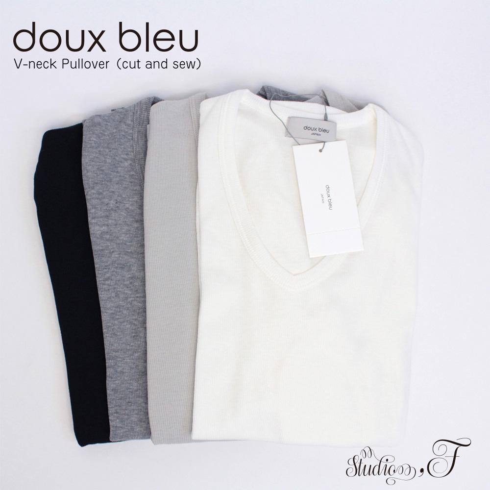doux bleu (ドゥーブルー) シャンカーリヨセルテレコVプルオーバー