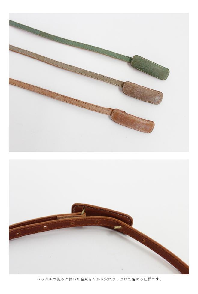 【MORE SALE 30%OFF】 <br>CERASUS(ケラスス)<br>ラマレザー 2連ベルト Lama leather
