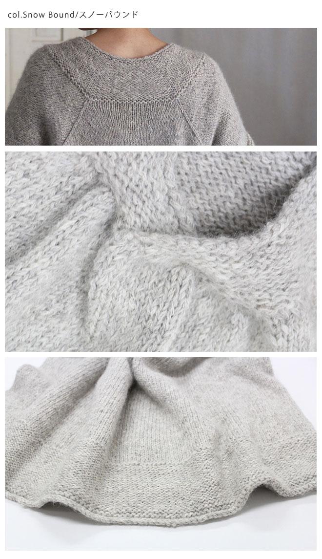 ベビーアルパカ100% リリヤーン ペルー手芸糸 eco baby alpaca (エコベビーアルパカ)Junko Okamotoデザイン『Sawyer(ソーヤー)』使用糸 ペルー糸「eco baby alpaca」700g