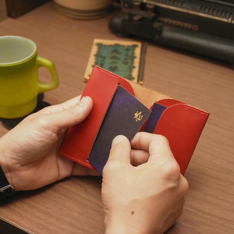 名入れ ヌメ革 名刺ケース レザー メッセージ カードケース 刻印付き シンプル 名刺入れ ギフト