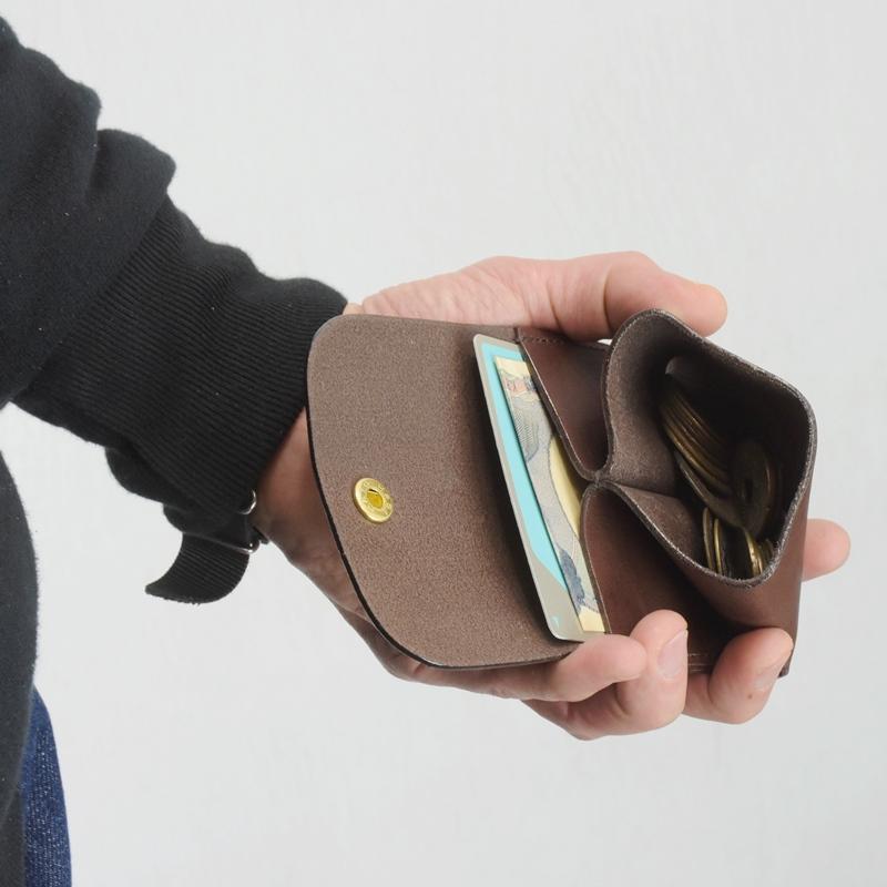 名入れ ヌメ革 コインケース 小銭入れ 刻印付き メッセージ カード IC お札 ポケット プレゼント ギフト キャッシュレス