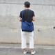 藍染め キャンバス 2WAY バッグ トートバッグ ショルダーバッグ コットン 濃紺 ネイビー
