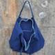 藍染め キャンバス ジップ トートバッグ 大き目 旅行バッグ コットン bigtote 鞄