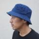 藍染め バケットハット 帽子 hat コットン 濃紺 メンズ レディース M L サファリハット