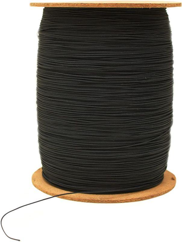 携帯ストラップ ナイロン コード 紐 ナイロン芯入り 0.8mm 10m巻松葉紐 黒 ストラップ 丸紐
