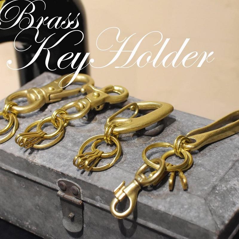 真鍮 生地 キーホルダー 鍵 キーケース キーリング ゴールド ヨットナスカン レバーナスカン ベルトフック カラビナ 重厚感 高級感 プレゼント ギフト