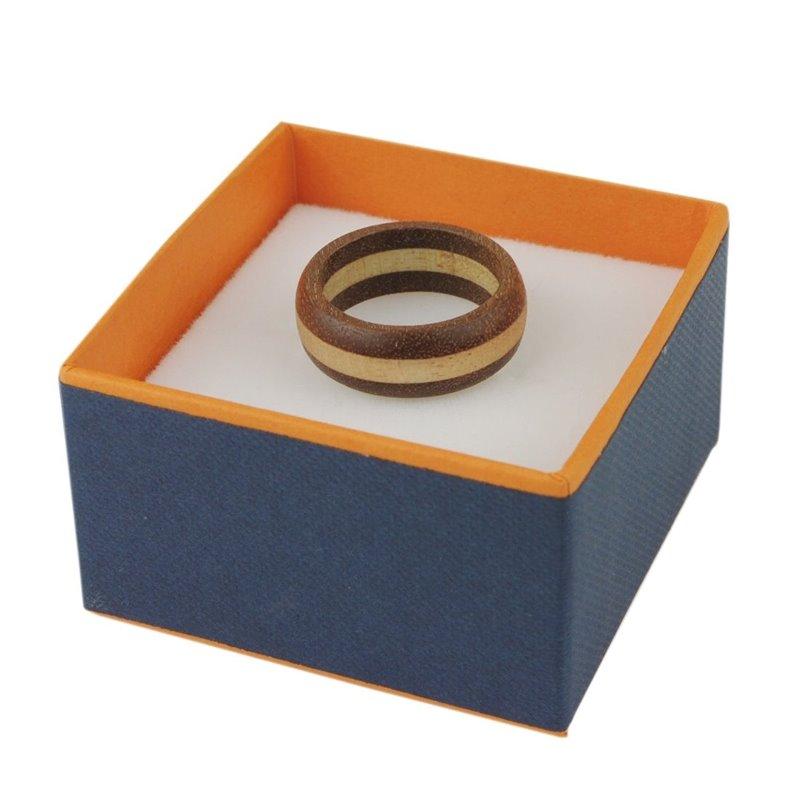 木製 指輪 ウッドリング 桐 マホガニー WOOD ペア 2カラー メンズ レディース プレゼント ギフト 可愛い 温もり