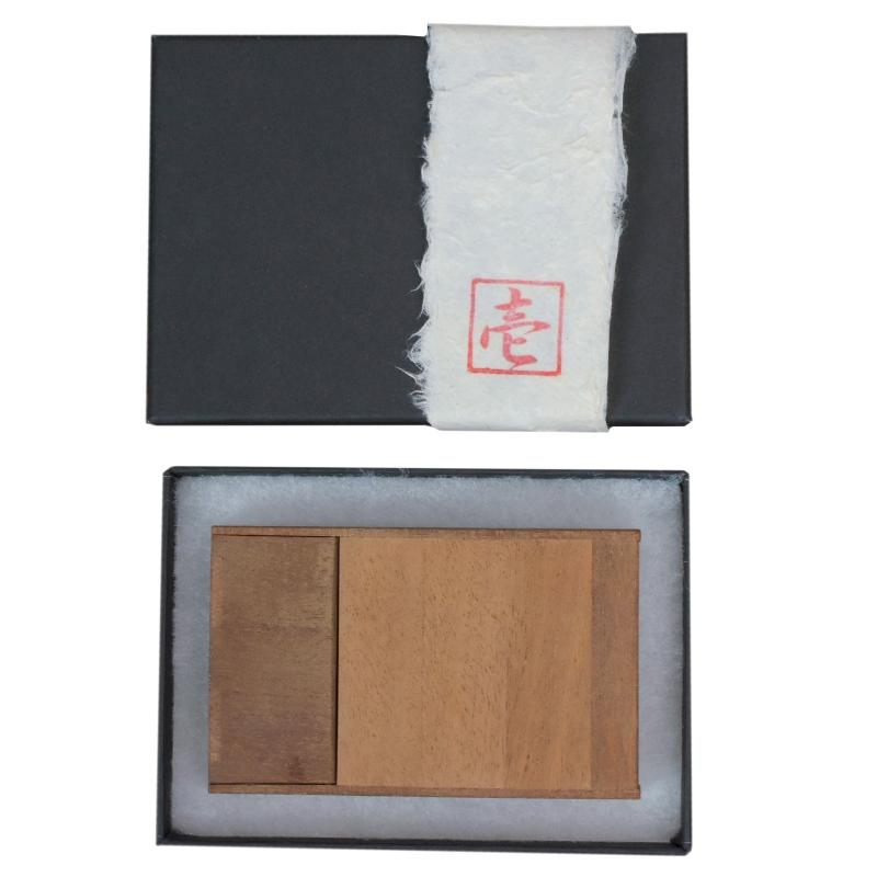 名刺ケース ウッド木製カードケース フロントオープン 桐 マホガニー 可愛い プレゼント ギフト 温もり wood