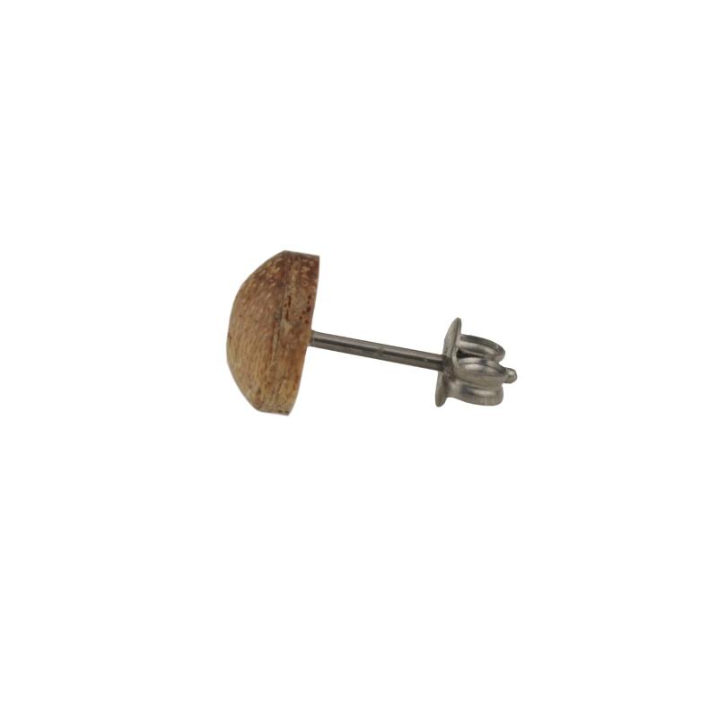 単品 ネジピアス 木製ピアス ウッドピアス 桐 マホガニー 可愛い プレゼント ギフト 温もり wood 工具