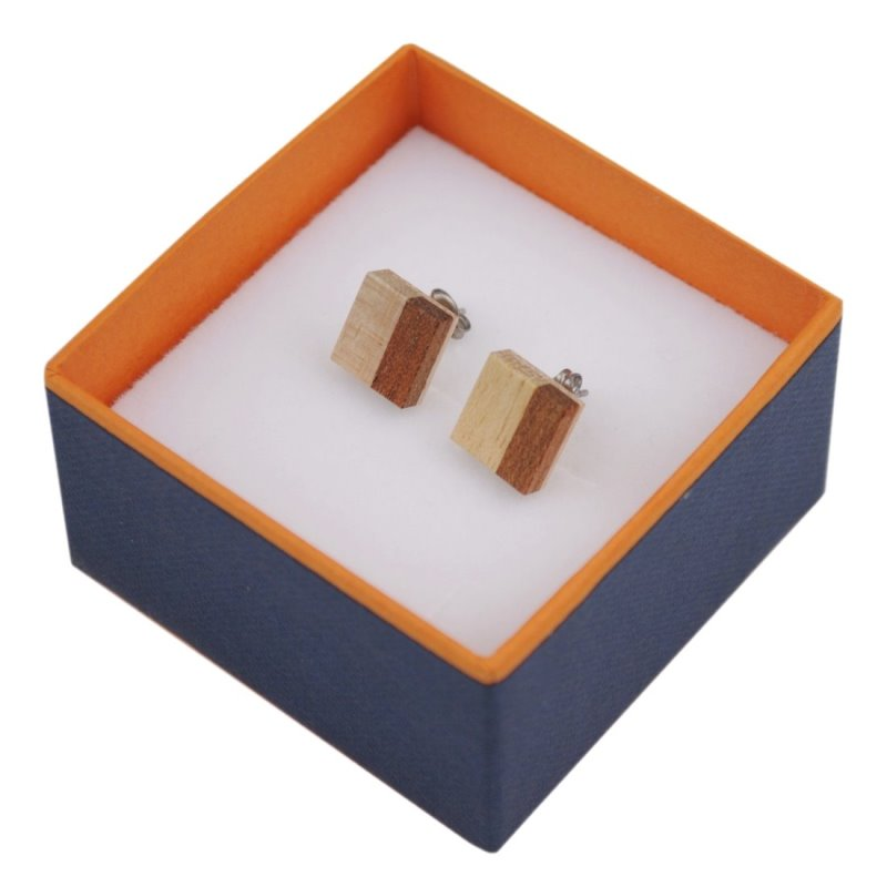 木製ピアス 縞 ウッドピアス 桐 ペア 可愛い プレゼント ギフト 温もり wood