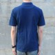 半袖 ポロシャツ コットン 綿 メンズ 藍染め 鹿子 プレゼント ギフト クールビズ しっかり