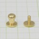 真鍮 生地 ギボシ 大サイズ ネジ式 マイナス 金具 パーツ 金色 古美金 留め具 ボタン レザークラフト
